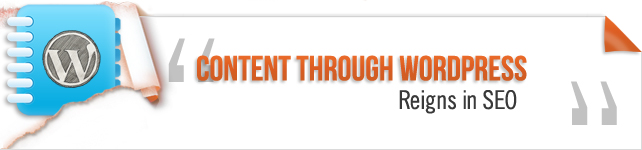 content through wordpress reign in seo
