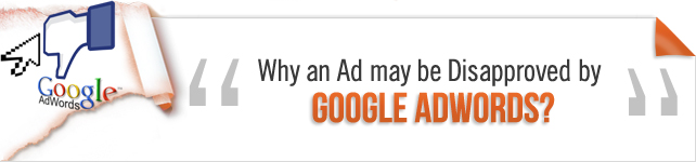 Google Adwords disapproved ads
