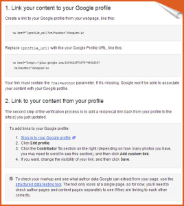 Linking your Content using Google plus