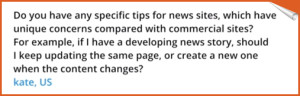 question on news stories