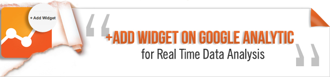 add widget on google analytics
