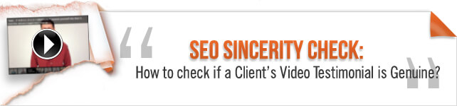 SEO Sincererity Check