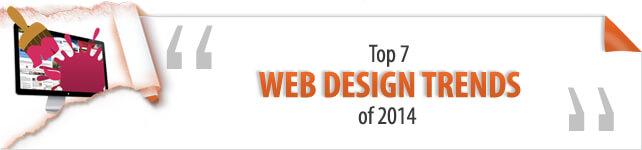 web design trends of 2014